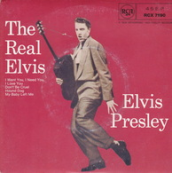 ELVIS PRESLEY - EP - 45T - Disque Vinyle - The Real Elvis - I Want You I Need You - 7190 - Vinyles