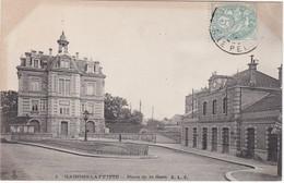FRANCE - CARTE POSTALE  - MAISONS LAFFITTE - PLACE DE LA GARE - Maisons-Laffitte