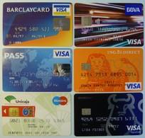 USA & Other Countries - Credit Card - 6 Modern - Visa, Maestro - Used - Geldkarten (Ablauf Min. 10 Jahre)