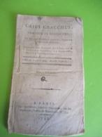 """Fascicule Théâtre/""""Caïus Gracchus""""/Tragédie En 3 Actes/Marie-Joseph CHENIER/ Député à La Convention/Moutard/1793    FAT6 - 1701-1800"""