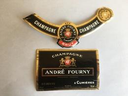 Ancienne Etiquette De Champagne André Fourny Cumières Old Wine Label - Champagne