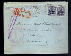 Paire De OC 4 / Lsc Recommandée  Càpt Antwerpen 15 1 18 => Braives ( Voir Censures 2 Scans ) - [OC1/25] Gen.reg.