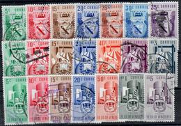 Venezuela Nº 378/84, 399/405, 466/72. Año 1952/53 - Venezuela