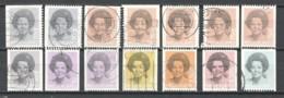 Netherlands 1981-1990 NVPH 1238A-1251A + 1238J-1239N-A-C Canceled - Period 1980-... (Beatrix)