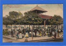 ESPAGNE - FIGUERAS Plaza Del Comercio, Mercado De Granos, Aquarellée (voir Descriptif) - Espagne