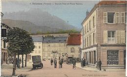~  JP  ~  88  ~  SENONES  ~      Rue  Du Pont Et Place  Vautrin  ~    Couleur   Rare   ~ - Senones