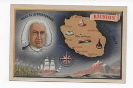 REUNION     EDITION MOULLOT MARSEILLE   MAHE DE LA BOURDONNAIS   BON ETAT 2 SCANS - Cartes Géographiques