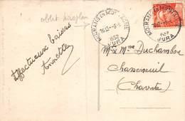20-4626 : CACHET MONOPLAN. MOIRANS EN MONTAGNE. JURA. 6 JUIN 1952 - Marcophilie (Lettres)