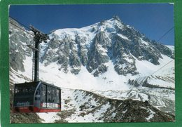 74 MONT BLANC CHAMONIX : Départ Du Téléphérique De L'Aiguille Du Midi Cabine 1998 EDIT ANDRE - Chamonix-Mont-Blanc