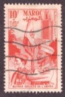 Maroc 1949 - 10 +10Fr  -  Welfare Organizations Of The Army - Used - - Morocco (1891-1956)
