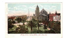 SAN JOSE, California, USA, Market Street Looking South, 1905 UB Behrendt Postcard - San Jose