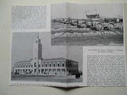 LITTORIA Italie  - Grands Travaux- Batterie De Tracteur S - Coupure De Presse De 1925 - Tracteurs