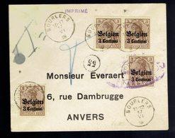 OC 1 X 2 + Une Paire / Petite Lsc Bourlers 17 VI 16 => Anvers Censure Charleroi - Oorlog 14-18