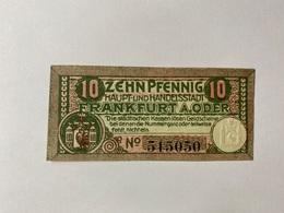 Allemagne Notgeld Frankfurt 10 Pfennig - [ 3] 1918-1933 : République De Weimar