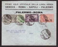 Regno, Busta Primo Volo Palermo-Roma Del 1926       -CM87 - 1900-44 Vittorio Emanuele III
