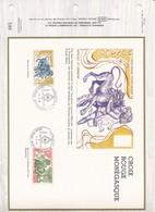 MONACO-DOCUMENT OFFICIEL 586 - HERCULE ET CERBERE - CROIX ROUGE MONEGASQUE - 28.10.86 - MONACO - Monaco