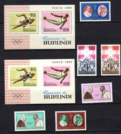 Burundi 1964, Expo De New York, Jeux De Tokio, Martyrs Africains, Entre 102 Et 117** Et BF 4 – 4A – 5 – 5A** - Burundi