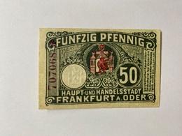 Allemagne Notgeld Frankfurt 50 Pfennig - [ 3] 1918-1933 : République De Weimar