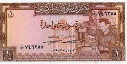 SYRIA 1 SYRIAN POUND 1982 P-93e UNC - Siria
