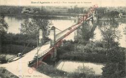 47.  MAS D'AGENAIS .  Pont Suspendu Sur La Garonne . - France