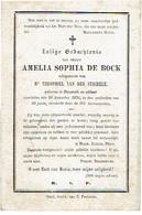 NAZARETH - Ameli DE BOCK (echtgen. T. VAN DER STICHELE) Overleden 1876 - Images Religieuses