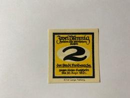 Allemagne Notgeld Freiberg 2  Pfennig - [ 3] 1918-1933 : République De Weimar