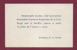 270320 - Carte De Visite SCOUTISME STRASBOURG Rue Goethe Chef Sections Automobiles Sanitaires Régionales Croix Rouge - Padvinderij