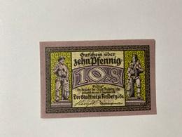 Allemagne Notgeld Freiberg 10 Pfennig - [ 3] 1918-1933 : République De Weimar