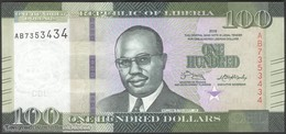 TWN - LIBERIA 35a - 100 Dollars 2016 Prefix AB UNC - Liberia