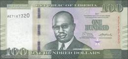 TWN - LIBERIA 35b - 100 Dollars 2017 Prefix AE UNC - Liberia