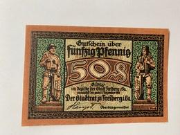Allemagne Notgeld Freiberg 50 Pfennig - [ 3] 1918-1933 : République De Weimar