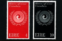IRELAND/EIRE - 1971  RACIAL EQUALITY YEAR  SET  MINT - 1949-... Repubblica D'Irlanda