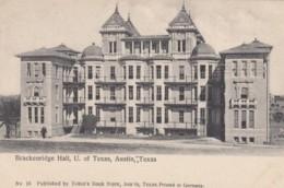 Austin Texas, University Of Texas Brackenridge Hall, Architecture, Tobins Bookstore Issued C1900s/10s Vintage Postcard - Austin