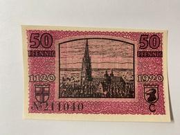 Allemagne Notgeld Freiburg 50 Pfennig - [ 3] 1918-1933 : République De Weimar