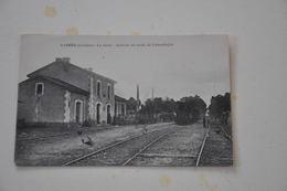 Sabres La Gare Arrivée Du Train De Labouheyre - Sabres