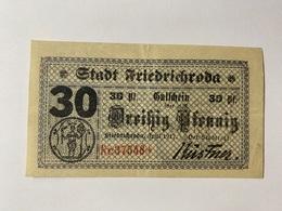 Allemagne Notgeld Friedrichroda 30 Pfennig - [ 3] 1918-1933 : République De Weimar