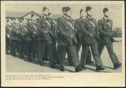 WW2 GB Czechoslovakia Trilingual Propaganda Card. Czechoslovak Pilots Serving In The British RAF. 310 Squadron Duxford - 1902-1951 (Rois)