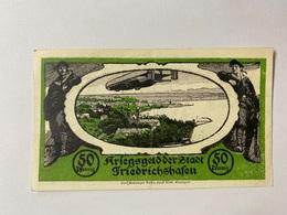 Allemagne Notgeld Friedrichshafen 50 Pfennig - [ 3] 1918-1933 : République De Weimar