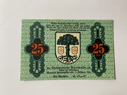 Allemagne Notgeld Freienwalde 25 Pfennig - [ 3] 1918-1933 : République De Weimar