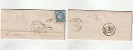 1872 N°60 Oblitéré GC1324 Le Donjon (Allier) Sur LAC Et Bureau De Passe 2565 Au Dos (lot 10) - 1871-1875 Cérès