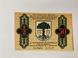 Allemagne Notgeld Freienwalde 50 Pfennig - [ 3] 1918-1933 : République De Weimar