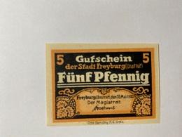 Allemagne Notgeld Freyburg 5 Pfennig - [ 3] 1918-1933 : République De Weimar