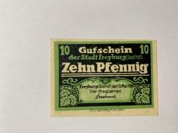 Allemagne Notgeld Freyburg 10 Pfennig - [ 3] 1918-1933 : République De Weimar