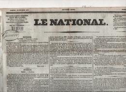 LE NATIONAL 19 02 1831 - WURTZBURG - BOLOGNE - POLOGNE - DUC DE NEMOURS ROI DES BELGES - EMEUTE CARLISTE PARIS ... - Journaux - Quotidiens