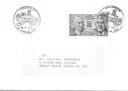 2501 - 25e Anniversaire Sur Traité Coopération Franco-allemande Sur Lettre Au 19-1-1988 - POINT PHILATÉLIE 77 MEAUX - Postmark Collection (Covers)