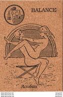 BALANCE NU   Signe Du Zodiaque Erotique Carte En Liège  ( Ref D713 ) KAMASUTRA - Autres
