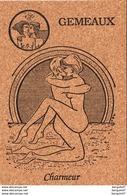GEMEAUX  NU  Signe Du Zodiaque Erotique Carte En Liège  ( Ref D709 ) KAMASUTRA - Autres