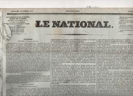 LE NATIONAL 20 02 1831 - POLOGNE - ITALIE - EMEUTES CARLISTES PARIS - ROME PAPE GREGOIRE XVI - HOLYROOD ... - Zeitungen