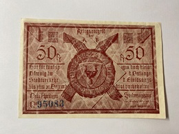 Allemagne Notgeld Fussen 50 Pfennig - [ 3] 1918-1933 : République De Weimar