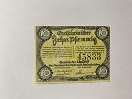 Allemagne Notgeld Geelow 10 Pfennig - [ 3] 1918-1933 : République De Weimar
